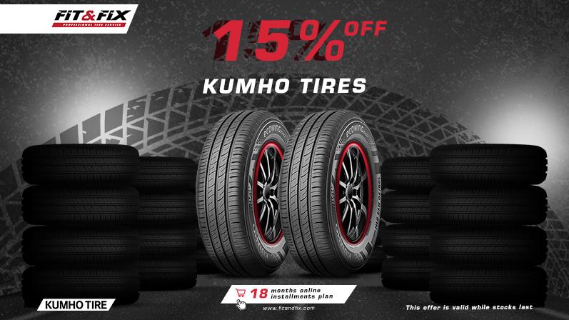 15% off on Kumho Tires